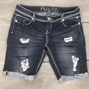 rue 21 jean denim shorts size 7/8